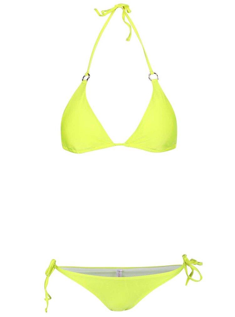 Neonově žluté dvoudílné plavky Relleciga