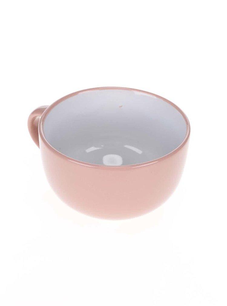 Cană ceramică mare cu model pisică Dakls roz