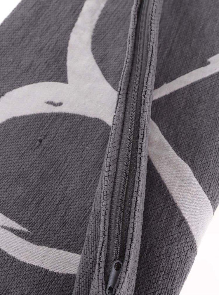Fata de perna gri cu imprimeu inima Dakls