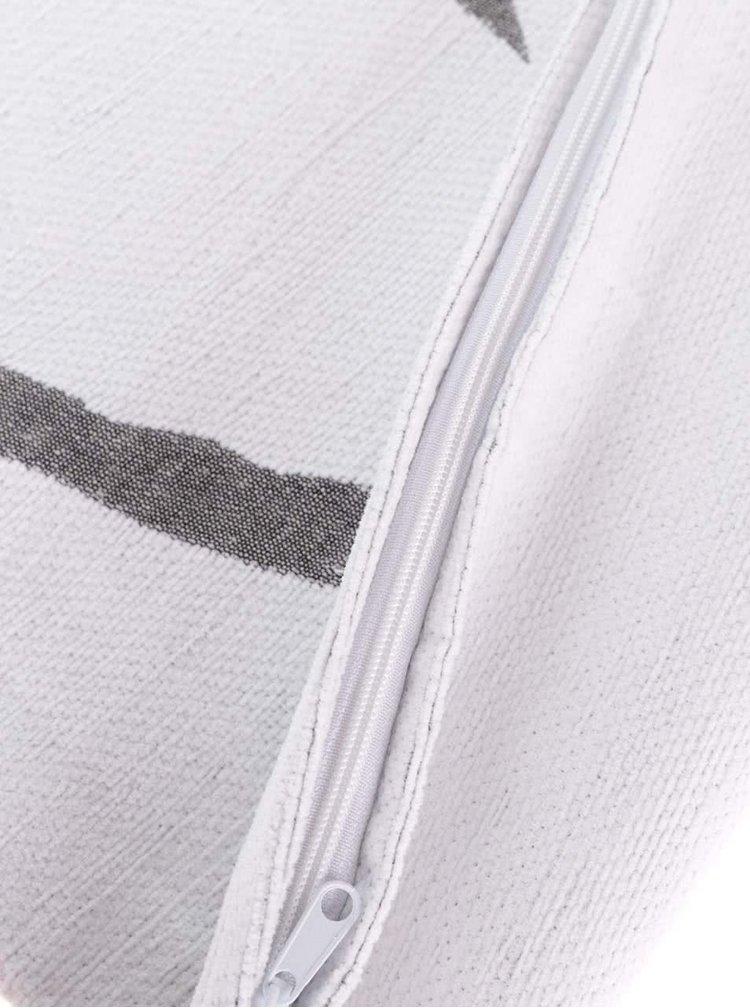 Šedo-krémový povlak na polštář se srdcem Dakls