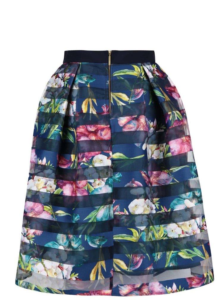 Modrá květovaná sukně Closet