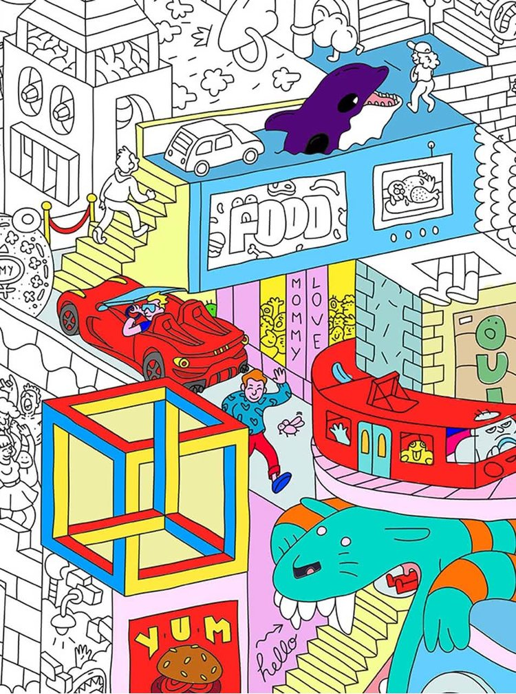 Poster de colorat OMY Party