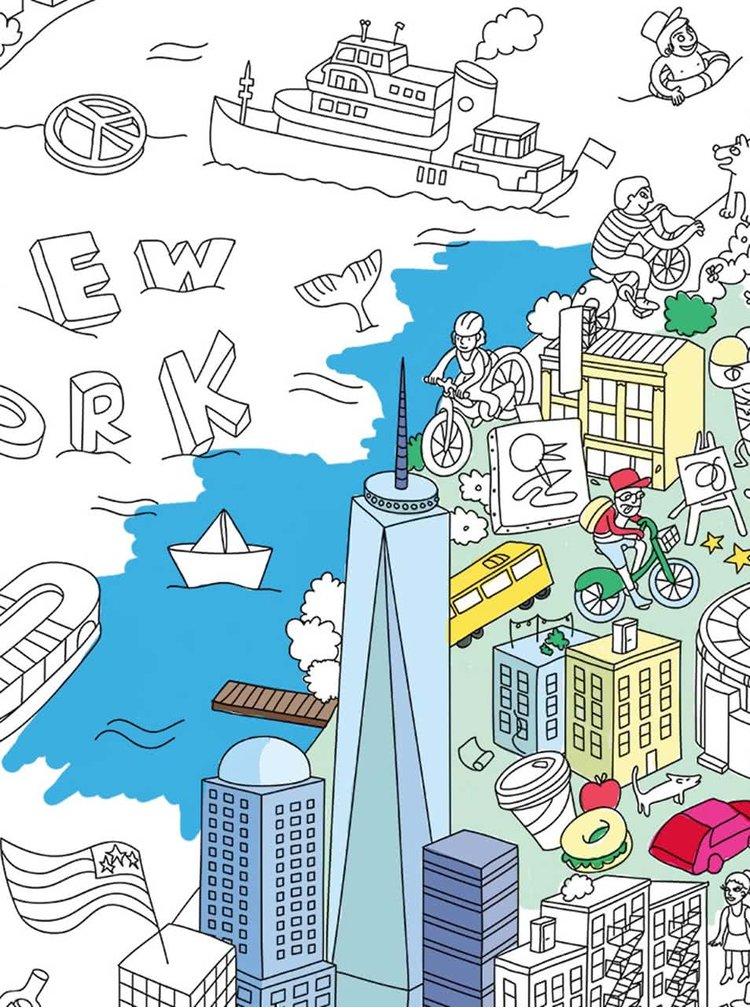 Velká omalovánka New York OMY