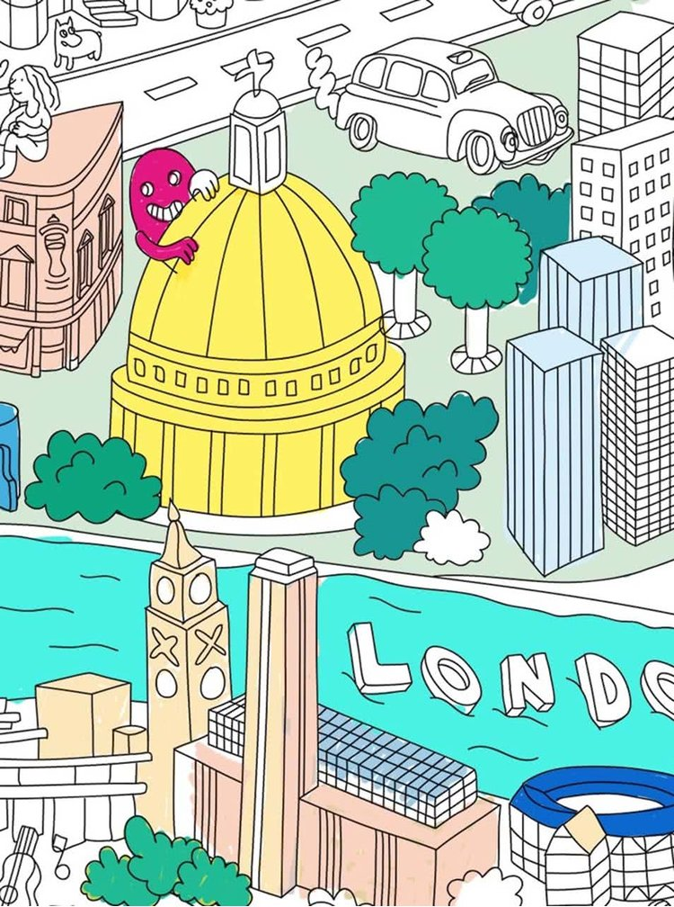 Velká omalovánka London OMY