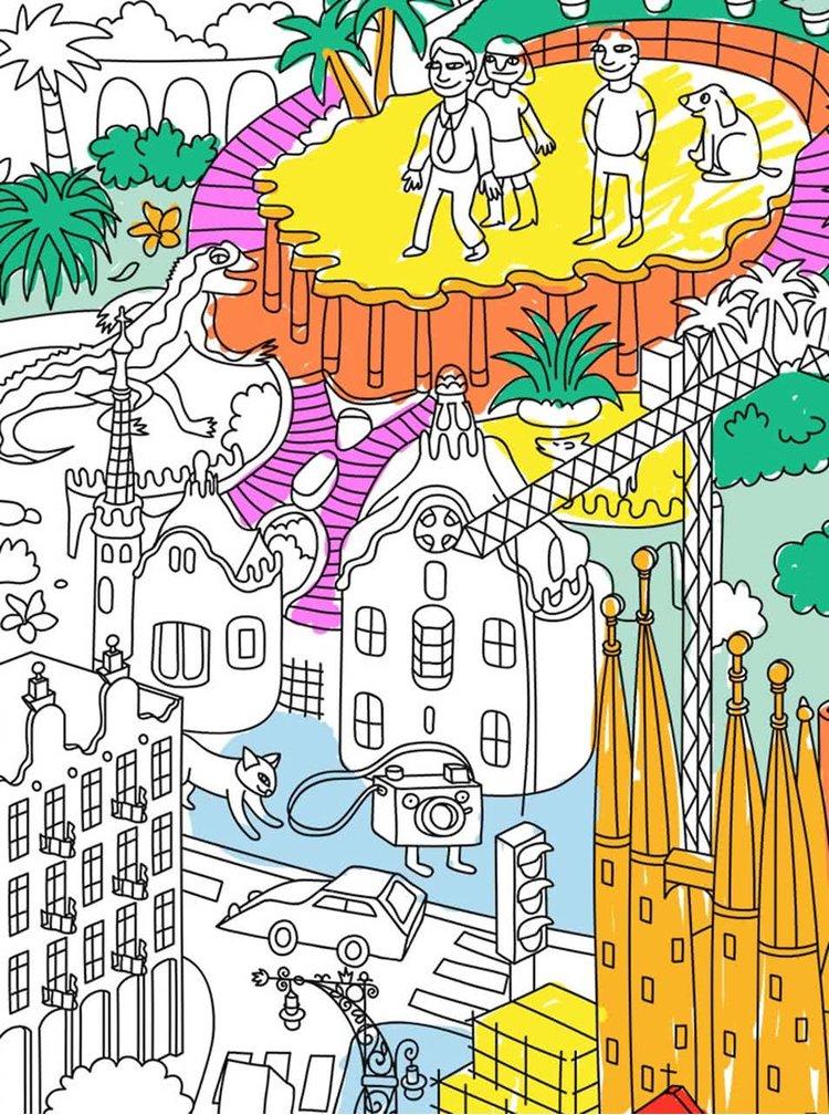 Velká omalovánka Barcelona OMY