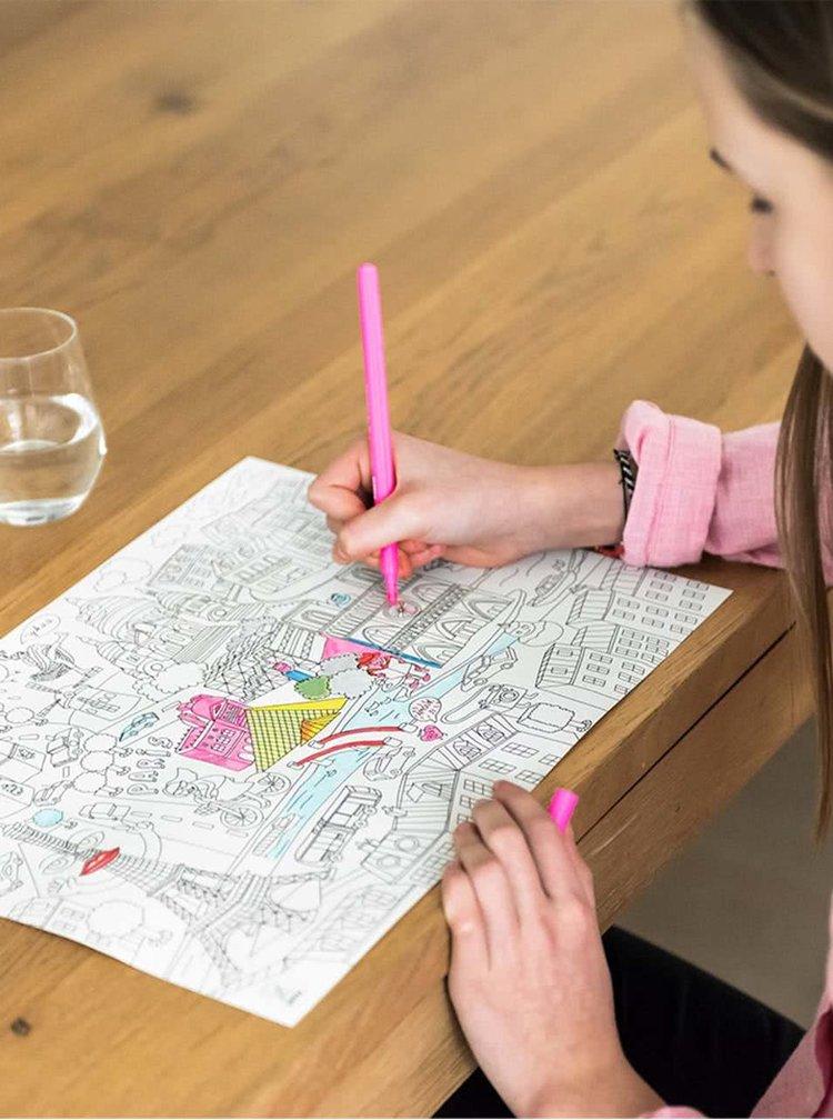 Șervet de masă Games OMY de colorat