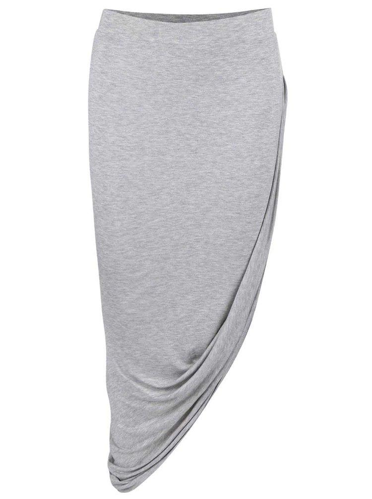 Světle šedá asymetrická sukně ONLY Thelma