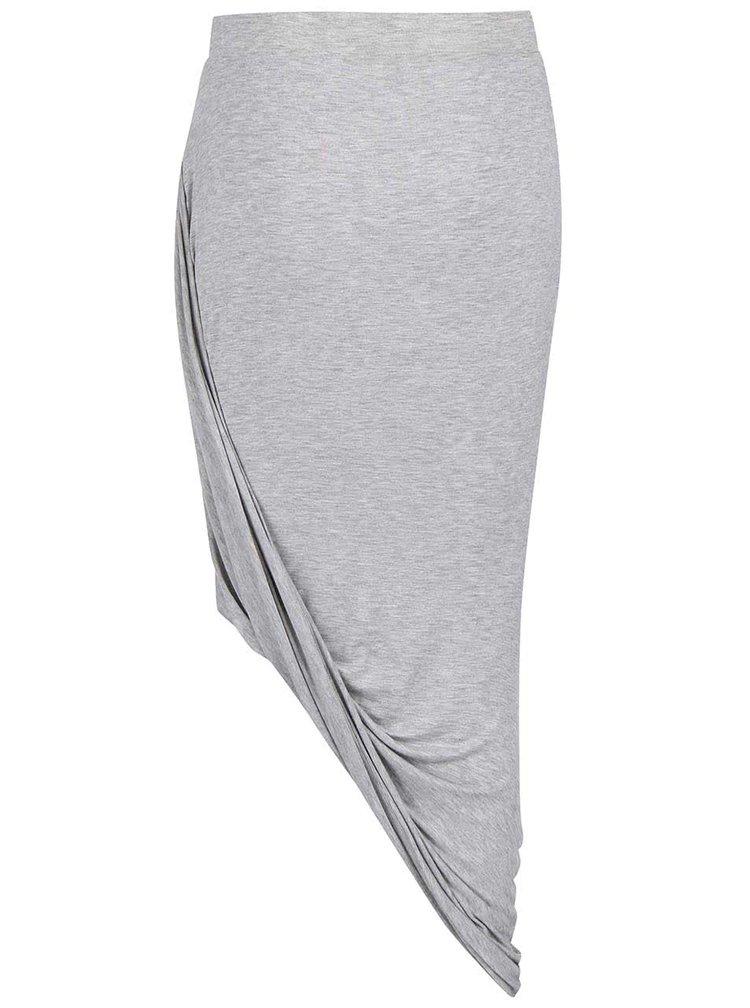 Svetlosivá asymetrická sukňa ONLY Thelma