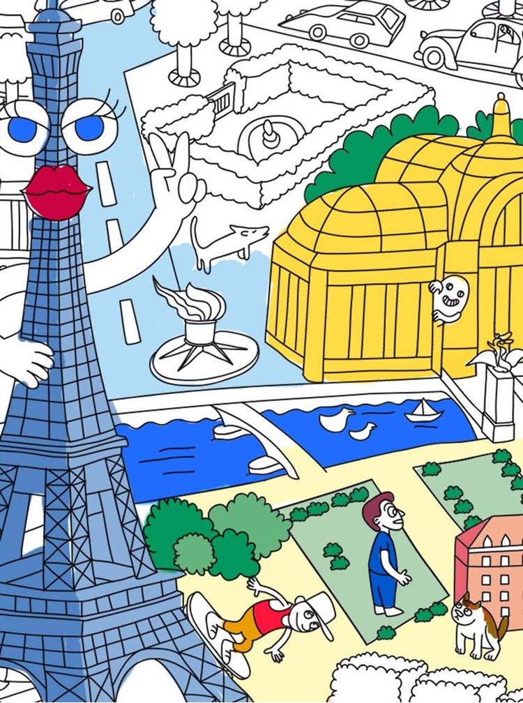 Velká omalovánka Paris OMY