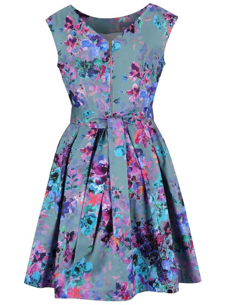Rochie Closet albastru pal cu imprimeu floral