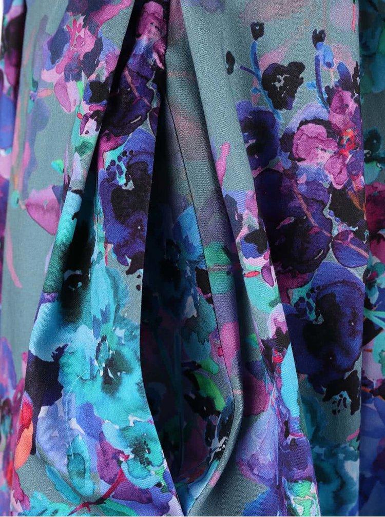 Zelenomodré šaty s kvetinovým vzorom Closet