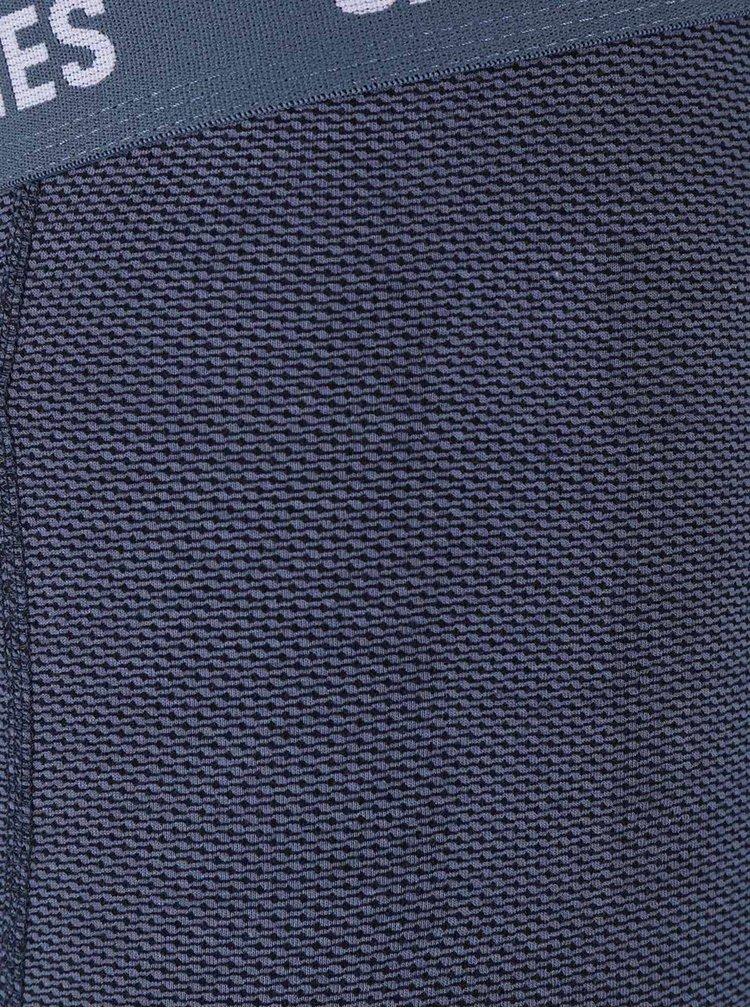 Set cu 3 perechi de boxeri Jack & Jones Tile albastru-gri