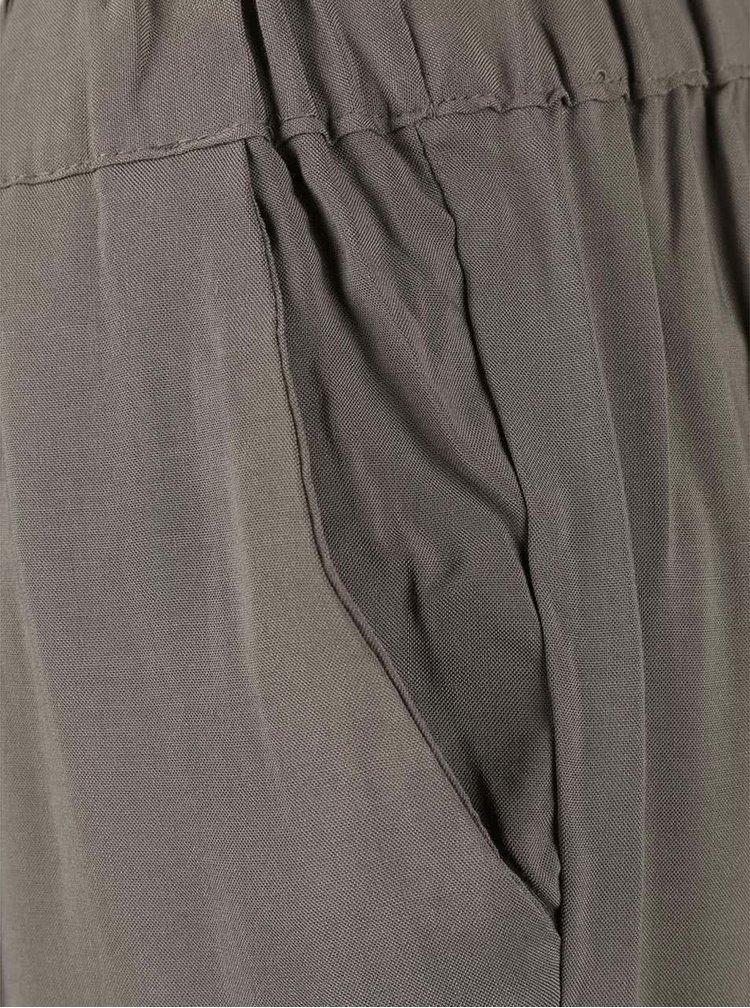 Hnědé kalhoty VERO MODA Super