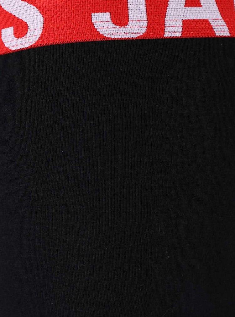 Kolekcia troch červeno-čiernych boxeriek Jack & Jones Paris