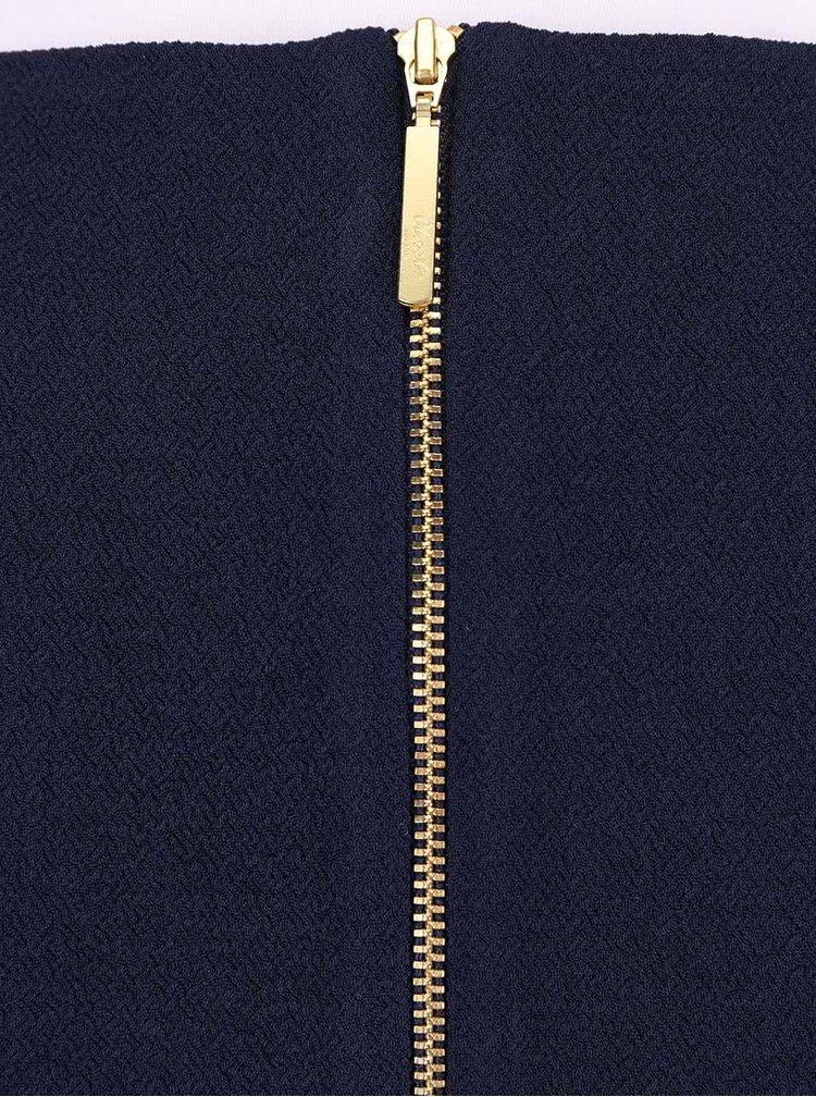 Tmavě modré šaty s véčkovým výstřihem Closet