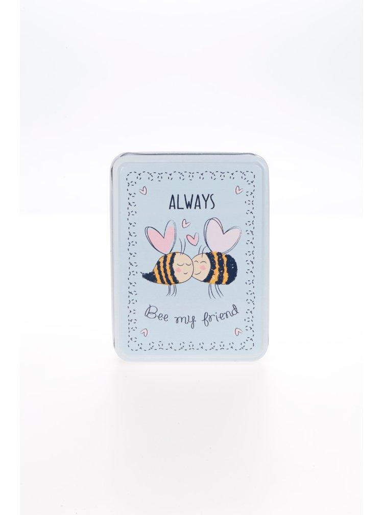 Světle modrá plechová krabička Sass & Belle Always Bee My Friend
