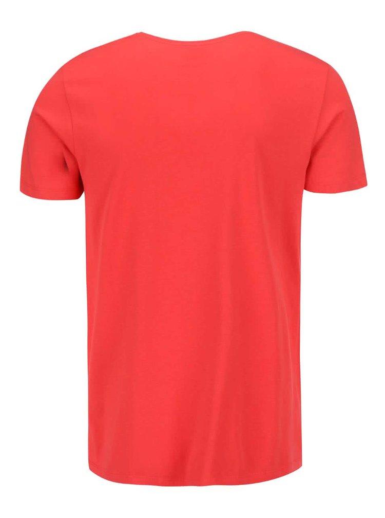 Červené tričko s potlačou Jack & Jones Clayton