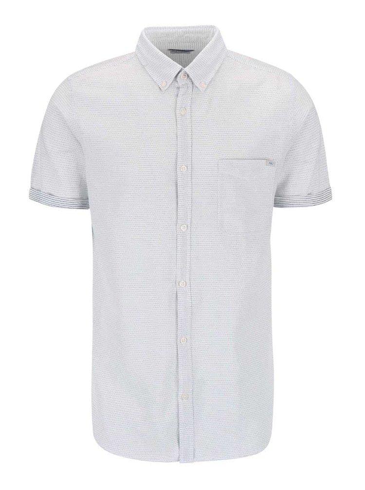 Modro-bílá košile s drobným vzorem Jack & Jones Indigo