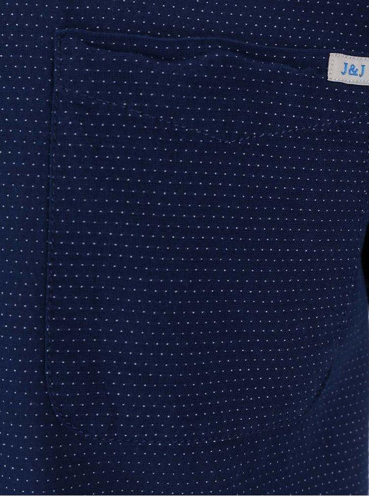 Tmavě modrá košile s drobným vzorem Jack & Jones Indigo