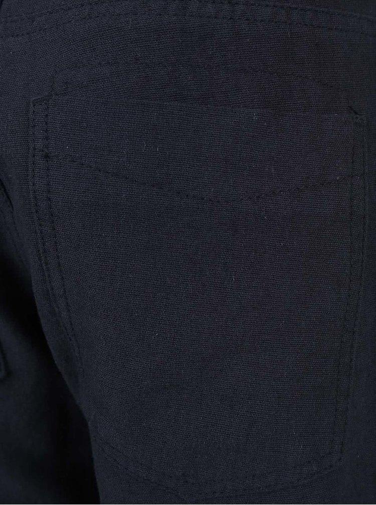 Tmavě modré klučičí kraťasy nad kolena name it Isac