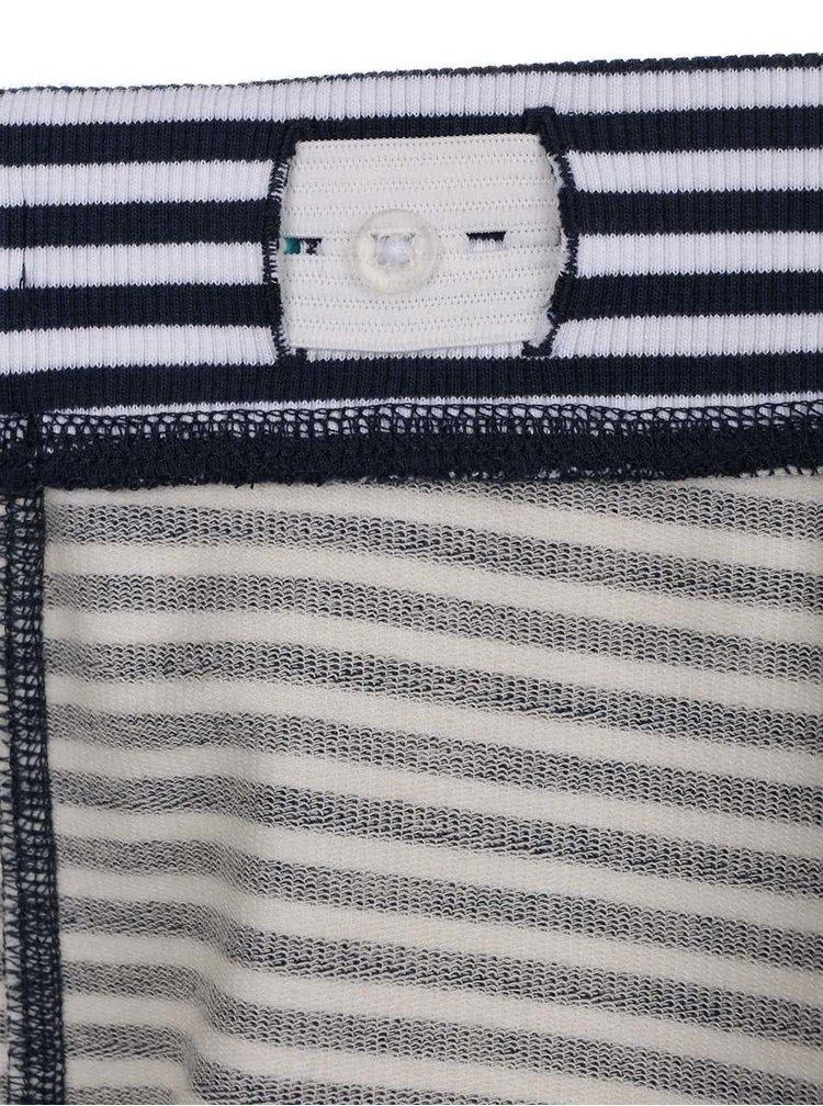 Modro-bílé klučičí pruhované kraťasy name it Hubert