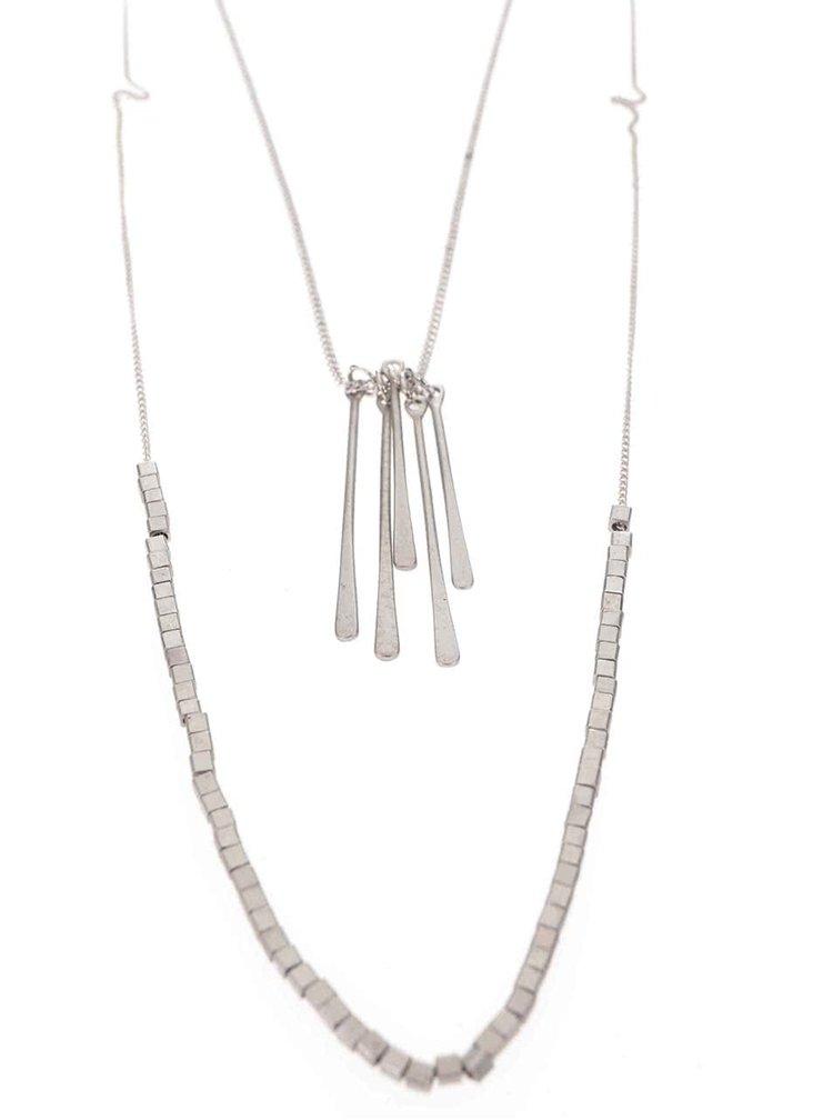 Kaskádovitý náhrdelník v striebornej farbe Pieces Bolissa