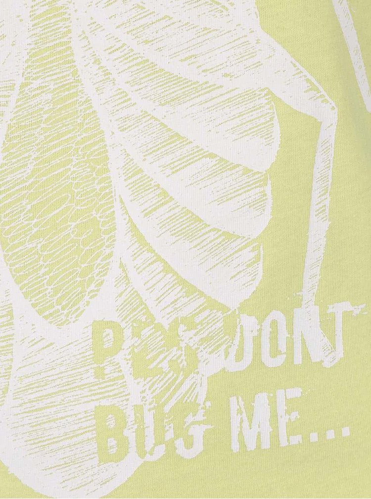 Limetkově žluté klučičí tílko s potiskem brouka name it Victor