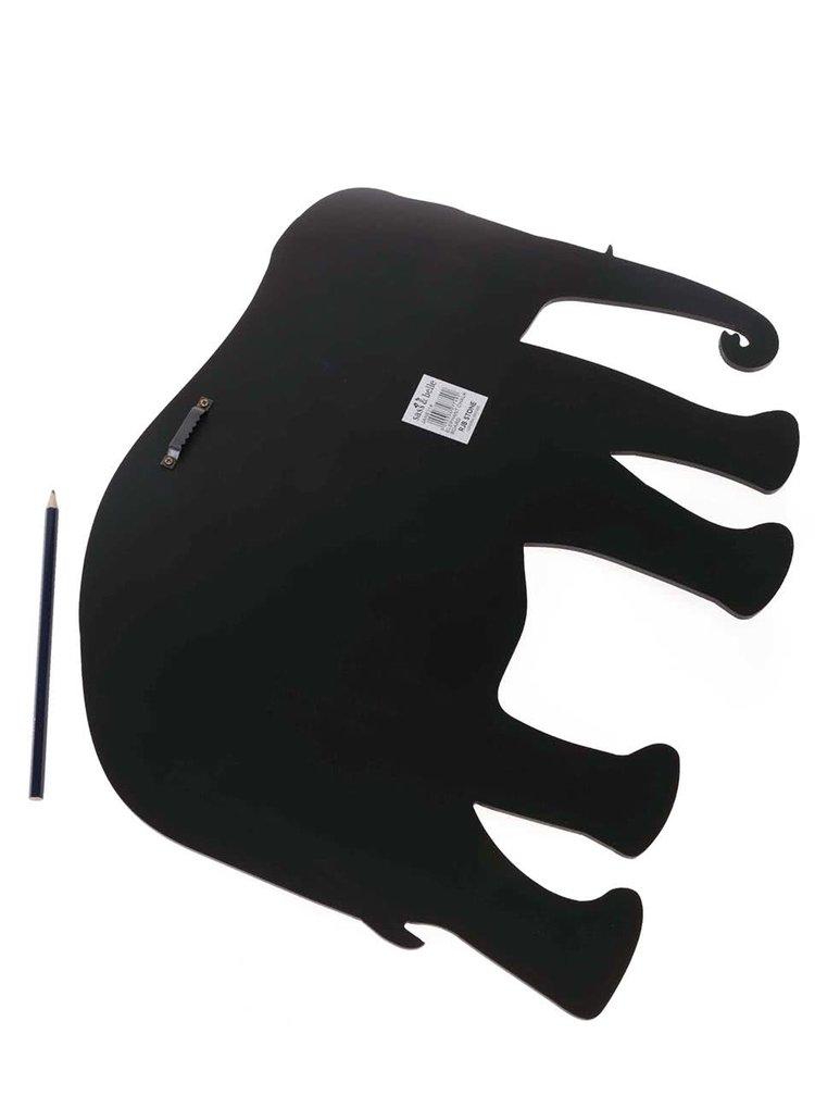 Černá tabule ve tvaru slona Sass & Belle