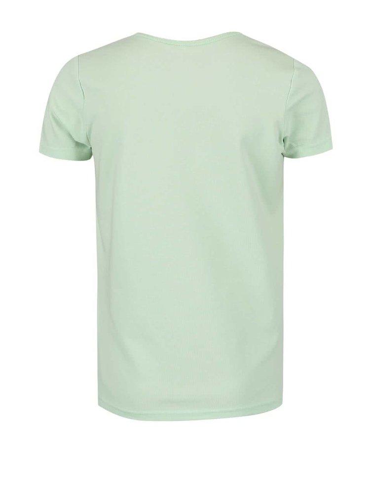 Svetlozelené dievčenské tričko s potlačou name it Vix