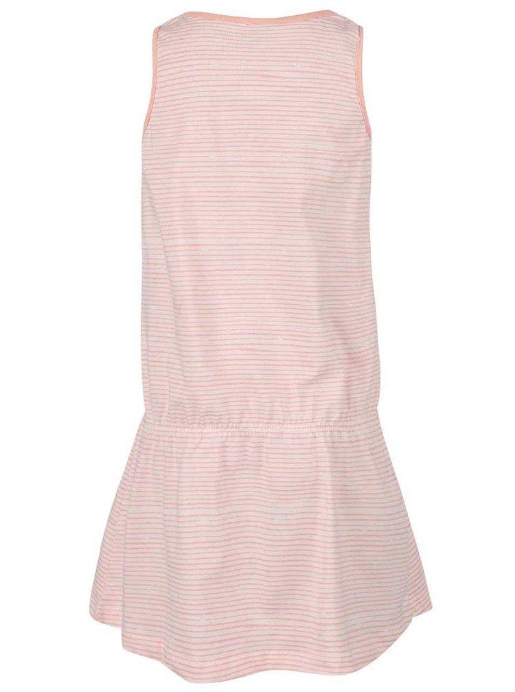 Ružové pruhované dievčenské šaty name it Vigga