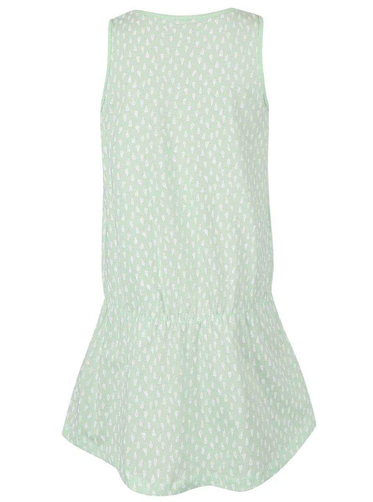 Svetlozelené vzorované dievčenské šaty name it Vigga