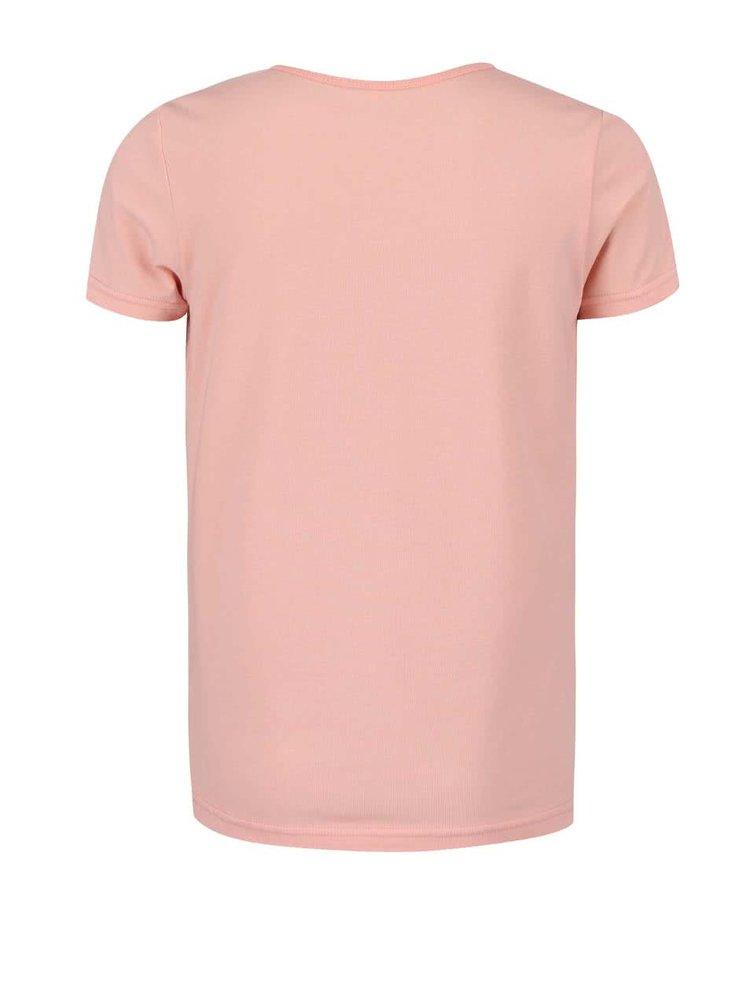 Růžové holčičí tričko s nápisem name it Vix