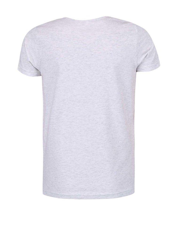 Svetlosivé dievčenské tričko s nápisom name it Vix