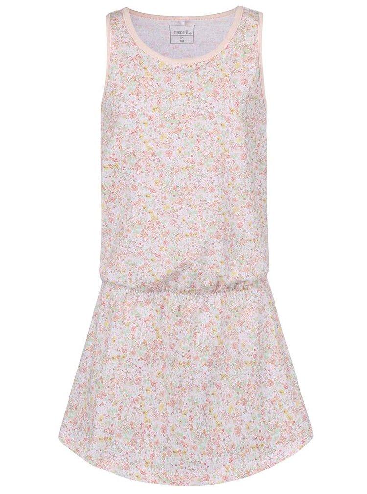 Biele kvetované dievčenské šaty name it Vigga
