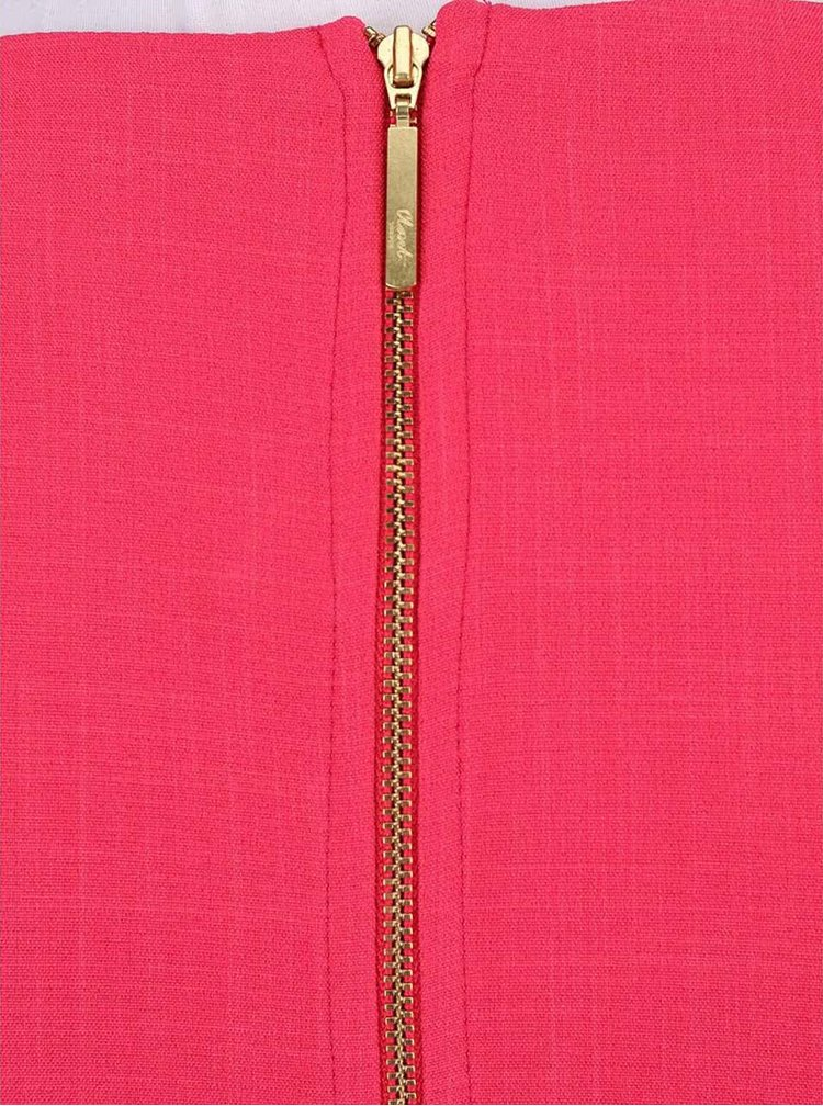 Malinovoružové šaty olemované čipkou Closet