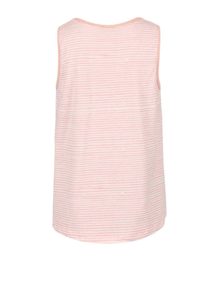 Ružové prúžkované dievčenské tričko name it Vigga