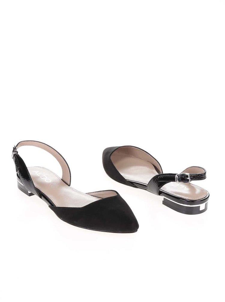 Čierne sandálky s uzavretou špičkou ALDO Winiger