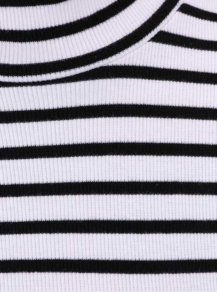 Černo-bílé pruhované šaty se stojáčkem VILA Wake