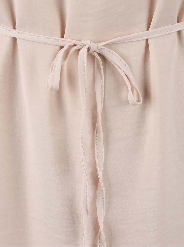 Ružovokrémové šaty s čipkovanými detailmi VILA Loki