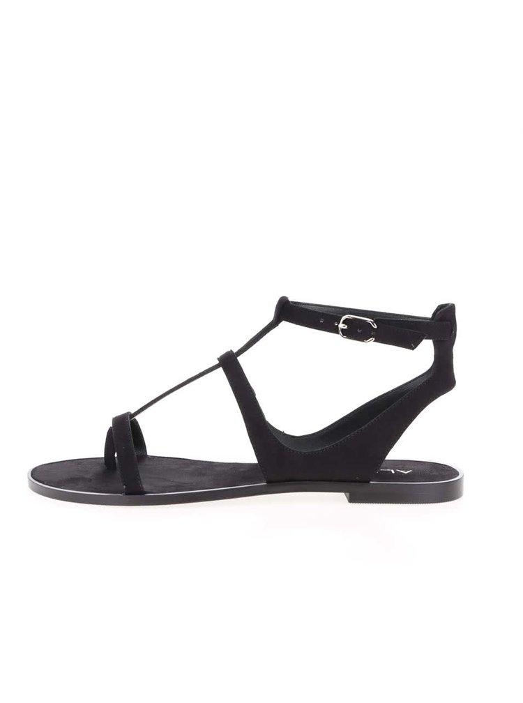 Čierne remienkové sandále ALDO Tiphanie
