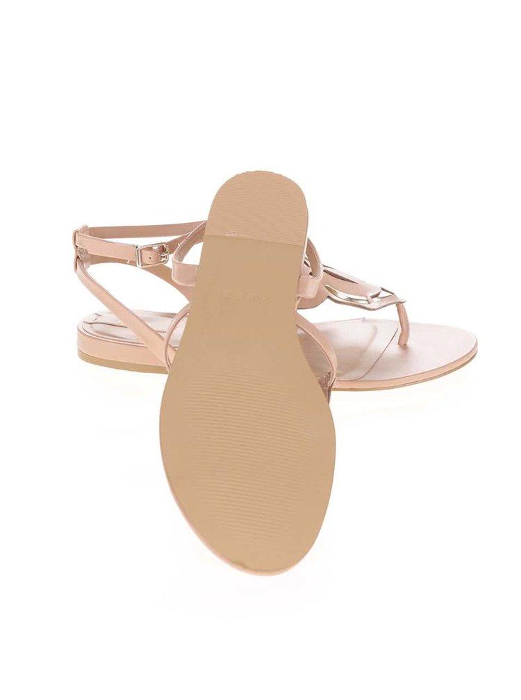 Béžové sandále s kvetinovým zdobením ALDO Kyara