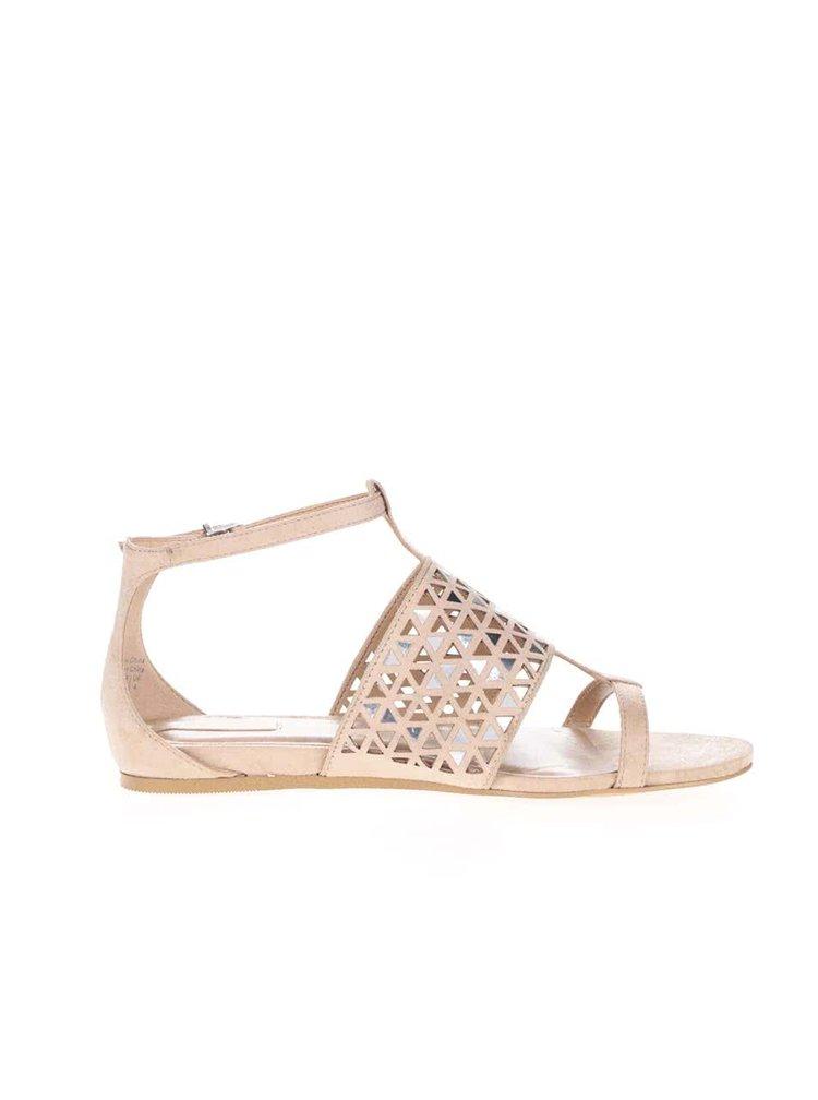 Krémové sandály se zdobením ve stříbrné barvě  ALDO Liliane