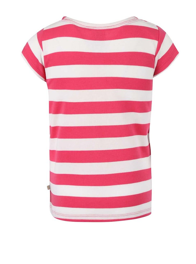 Růžové dívčí tričko s mořským koníkem Frugi St. Ives Boat