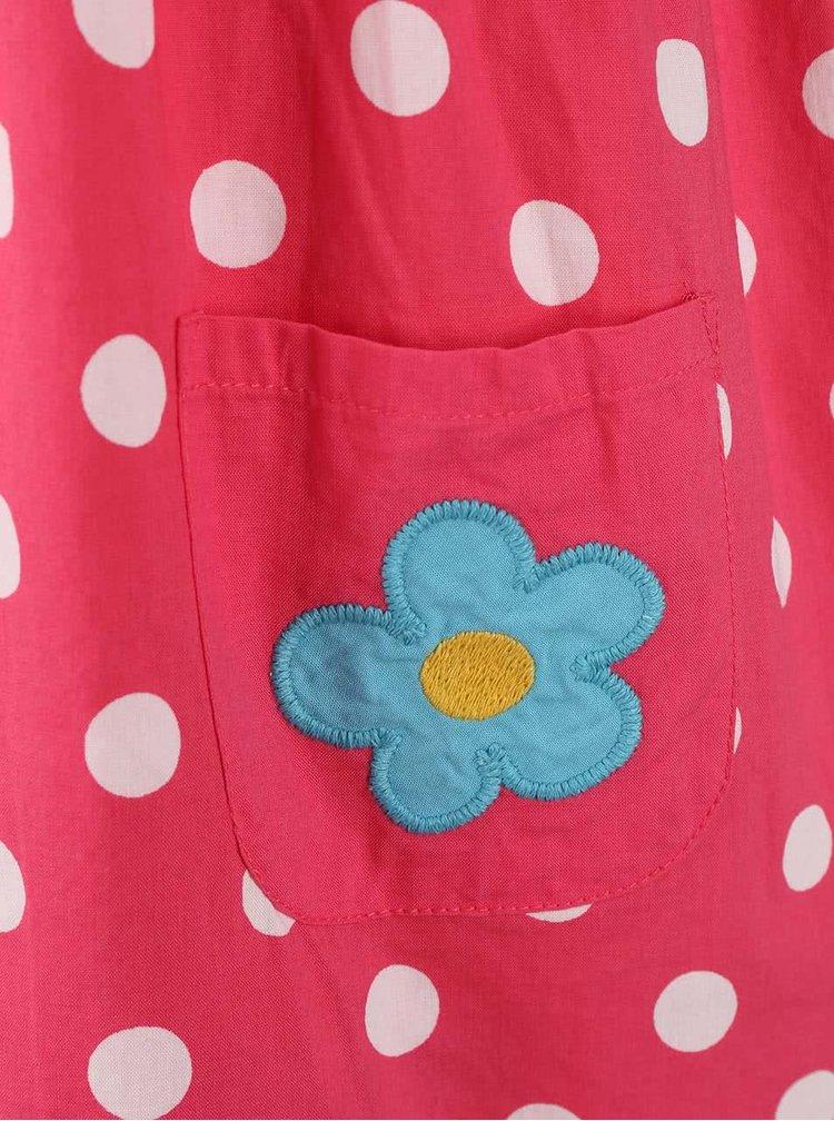 Růžové dívčí oboustranné šaty s loďkami Frugi Lamorna
