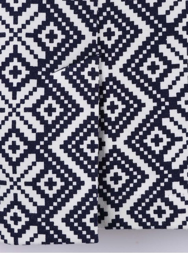 Krémovo-modré vzorované šaty Fever London Cheyenne