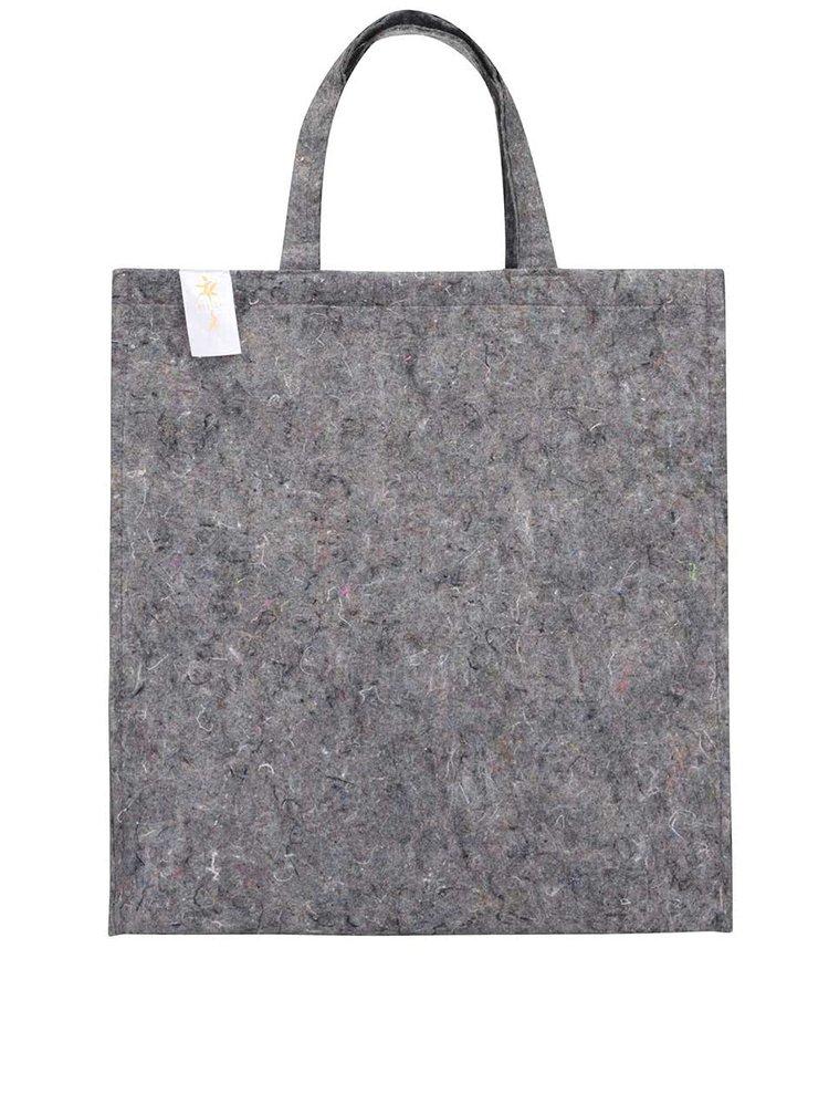 """Dobrá"" šedá jutová taška Kokoza"