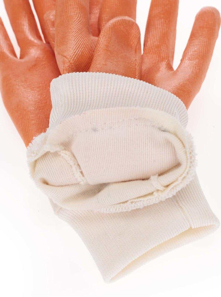 """""""Dobré"""" bílo-oranžové rukavice na zahradu Kokoza"""