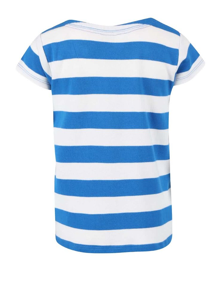 Bílo-modré dívčí tričko s rackem Frugi St. Ives Boat