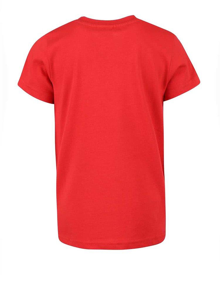 Tricou Frugi Wheels roșu cu print