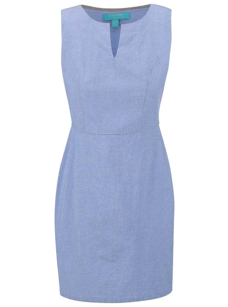 Světle modré šaty bez rukávů Fever London Alabama